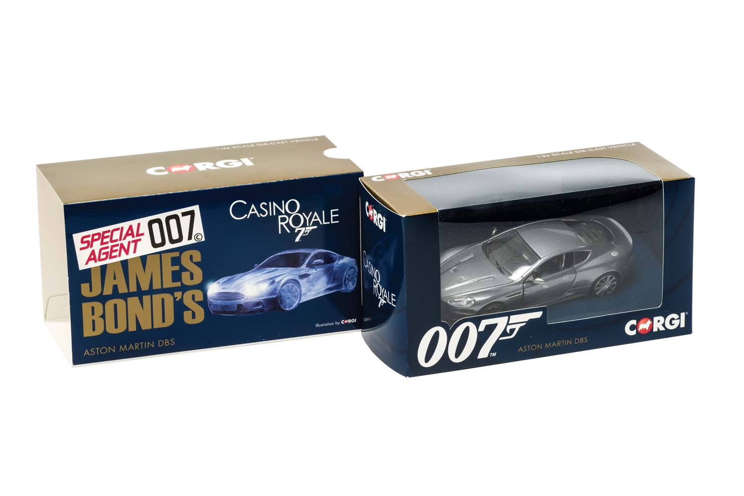 007 James Bond - Aston Martin Dbs - Casino Royale In Scala 1:36 Die-Cast