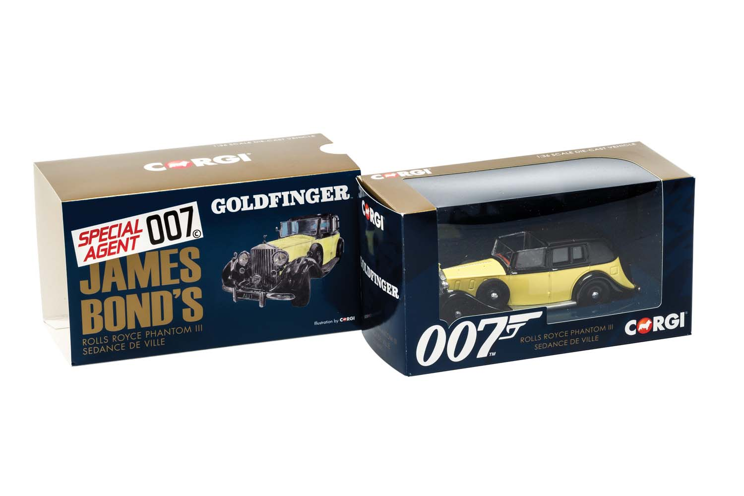 007 James Bond - Corgi Rolls Royce Sedance de Ville Goldfinger die cast