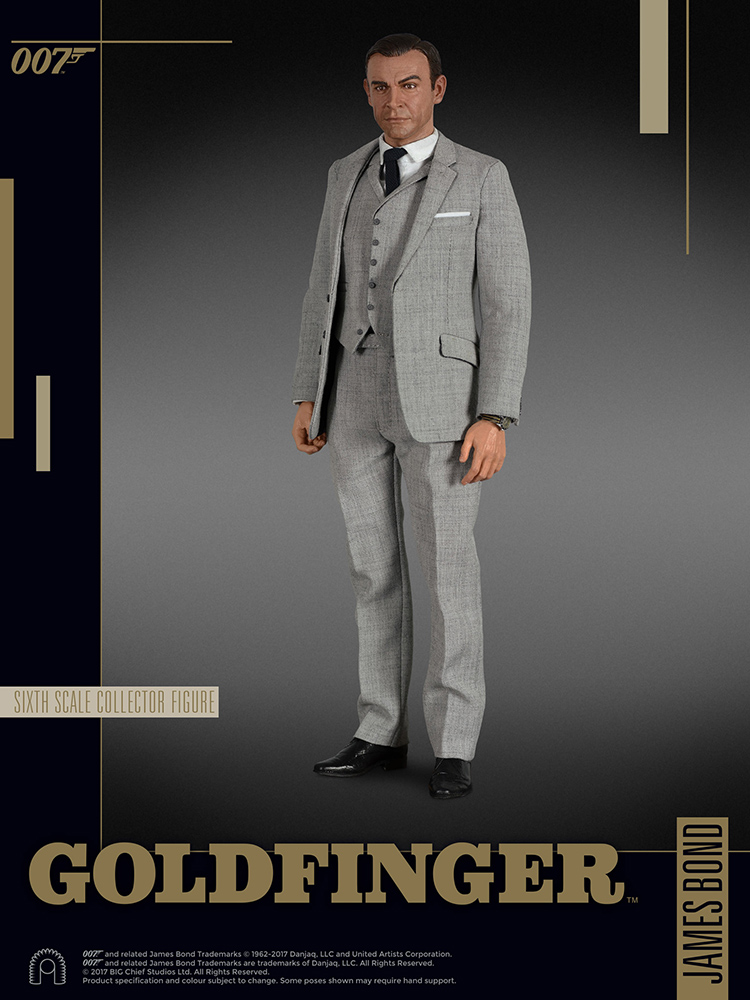 007 James Bond  - Goldfinger  - Action figure 1/6 - James Bond Sean Connery (Big Chief)