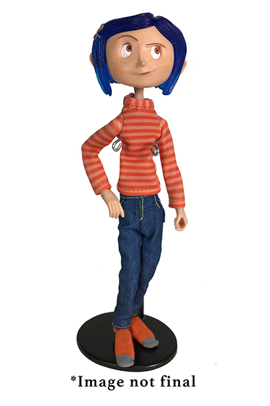 Coraline in striped shirt and jeans - Action figure