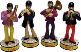 Beatles (The) - Yellow Submarine - Shakems Set 4 figure: George - Ringo - Paul - John