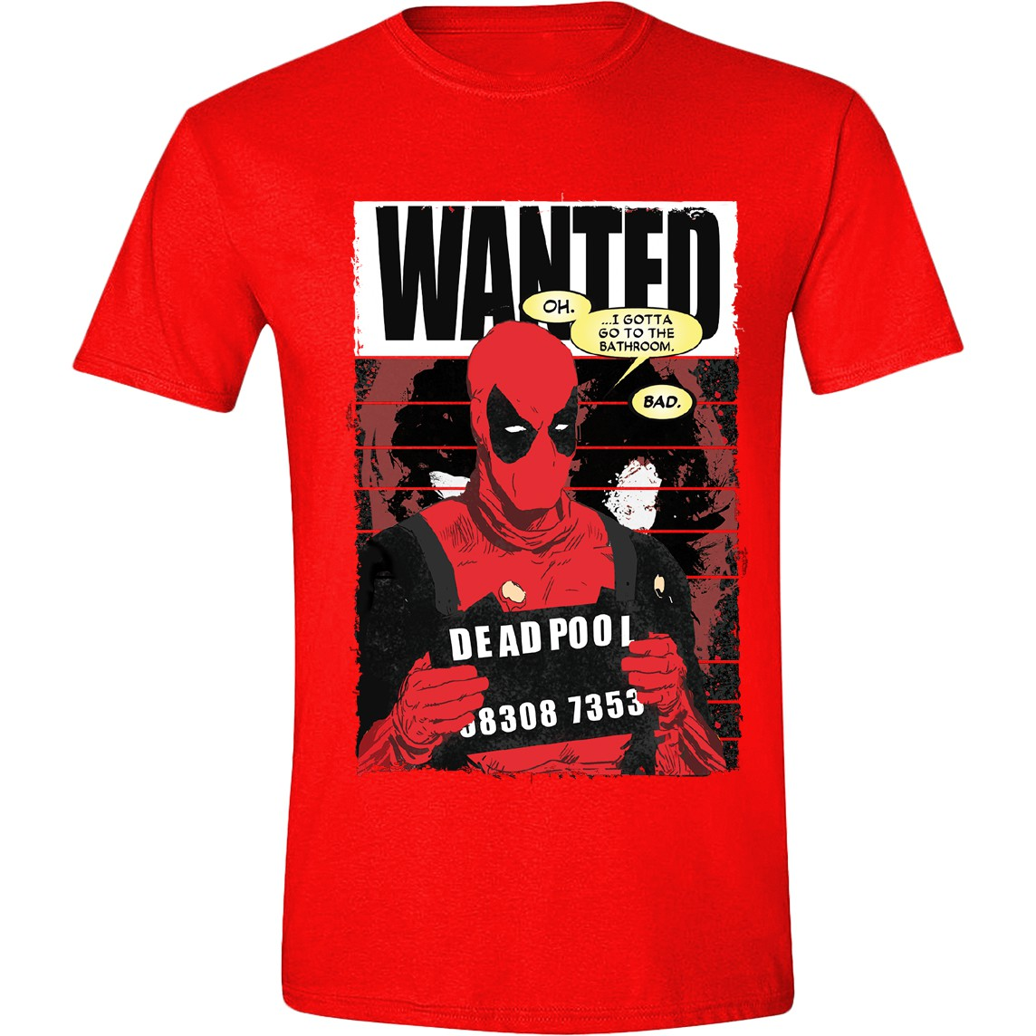 Deadpool - Wanted Poster red (Marvel)