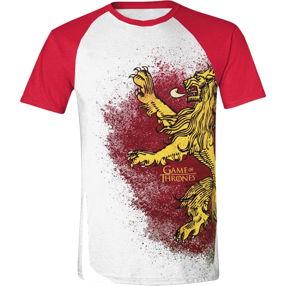 Game of Thrones (Trono di Spade) - Painted Lannister raglan baseball white