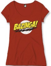Big Bang Theory - Bazinga (rosso) (donna)